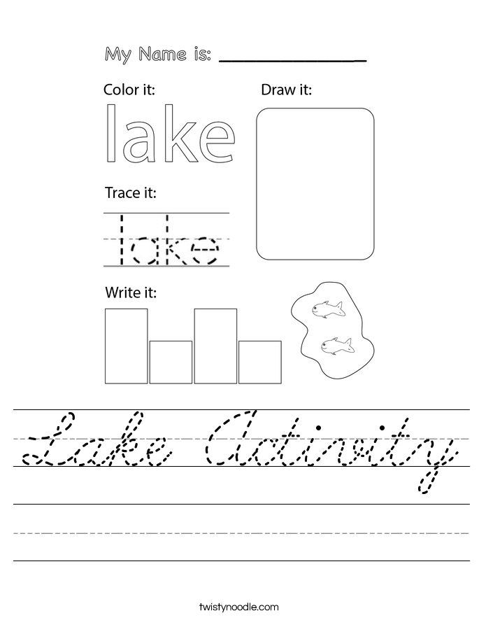 Lake Activity Worksheet