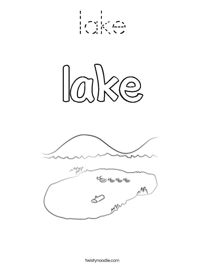 lake Coloring Page