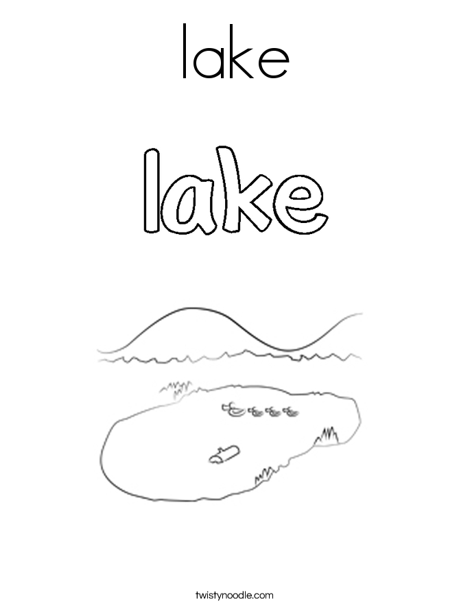 coloring pages on lake - photo#7