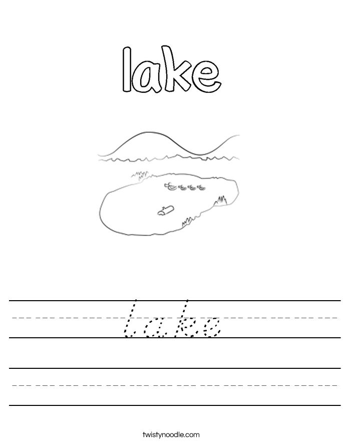 lake Worksheet