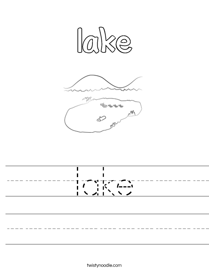 lake Worksheet