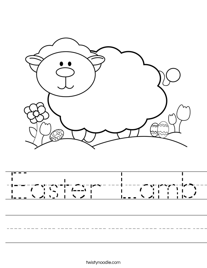 Easter Lamb Worksheet