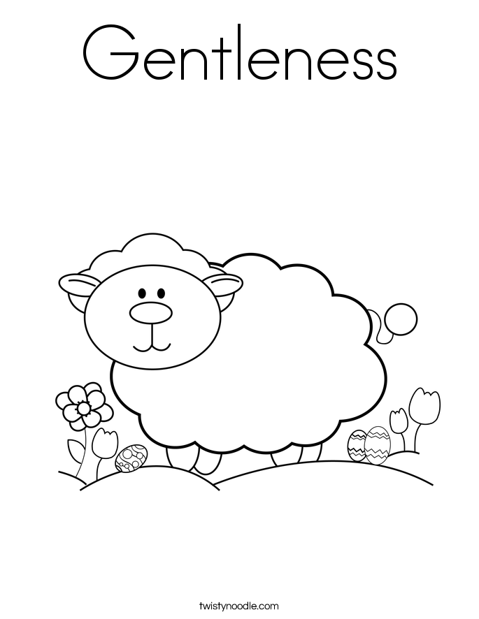 Gentleness Coloring Page Twisty Noodle