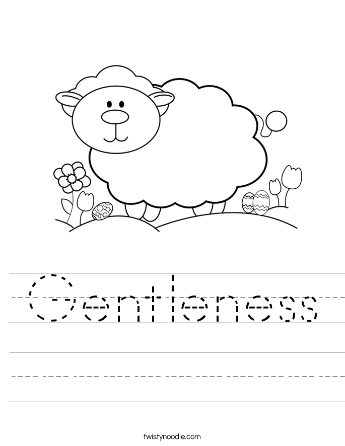 Gentleness Worksheet