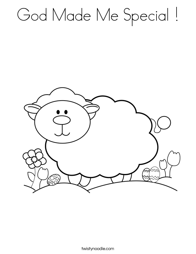 god made me coloring pages - photo#34