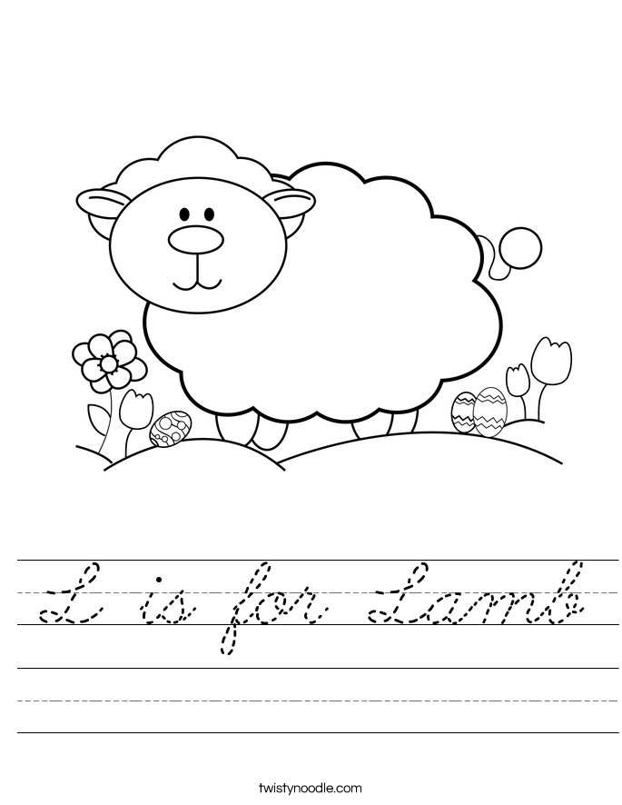 L is for Lamb Worksheet