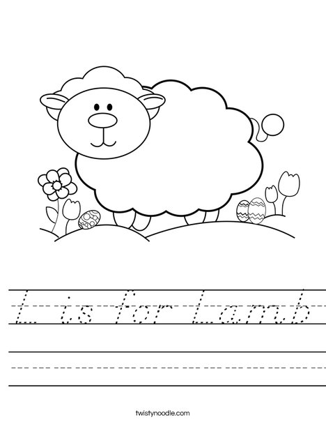 Lamb Worksheet