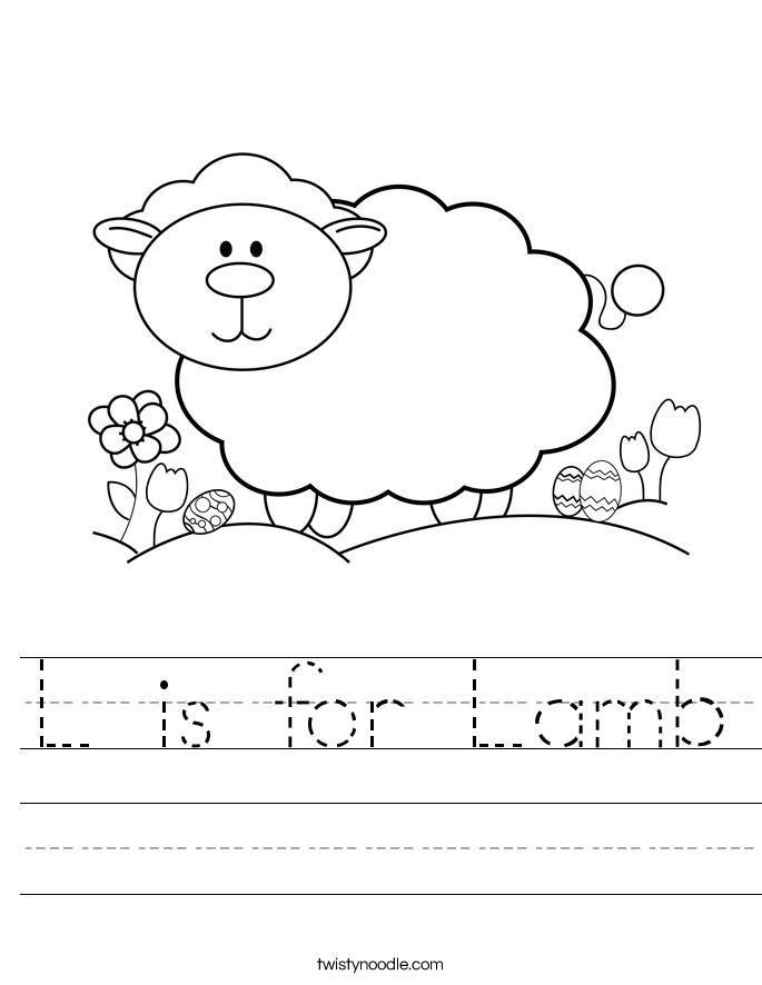 L is for Lamb Worksheet