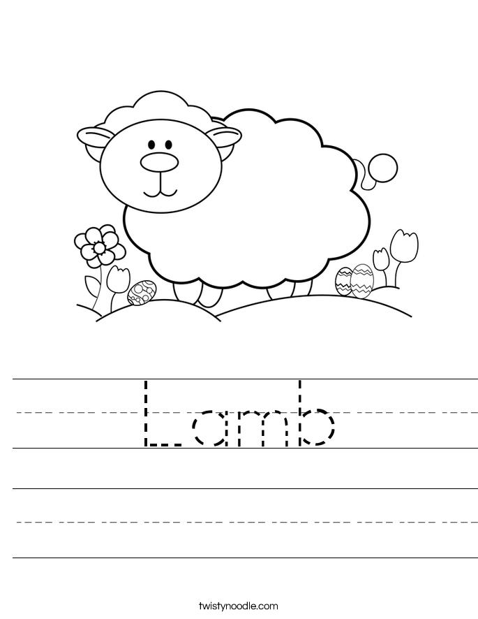 Lamb Worksheet
