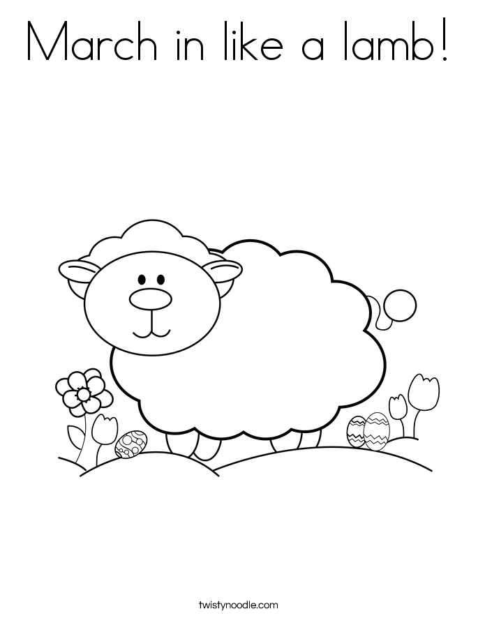 March in like a lamb! Coloring Page