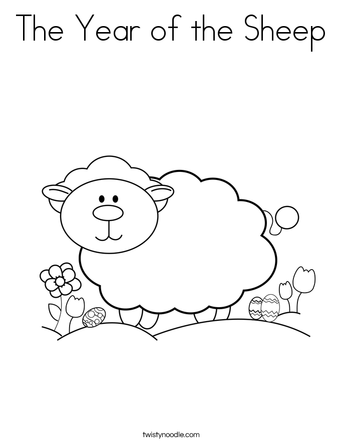 The Year of the Sheep Coloring Page