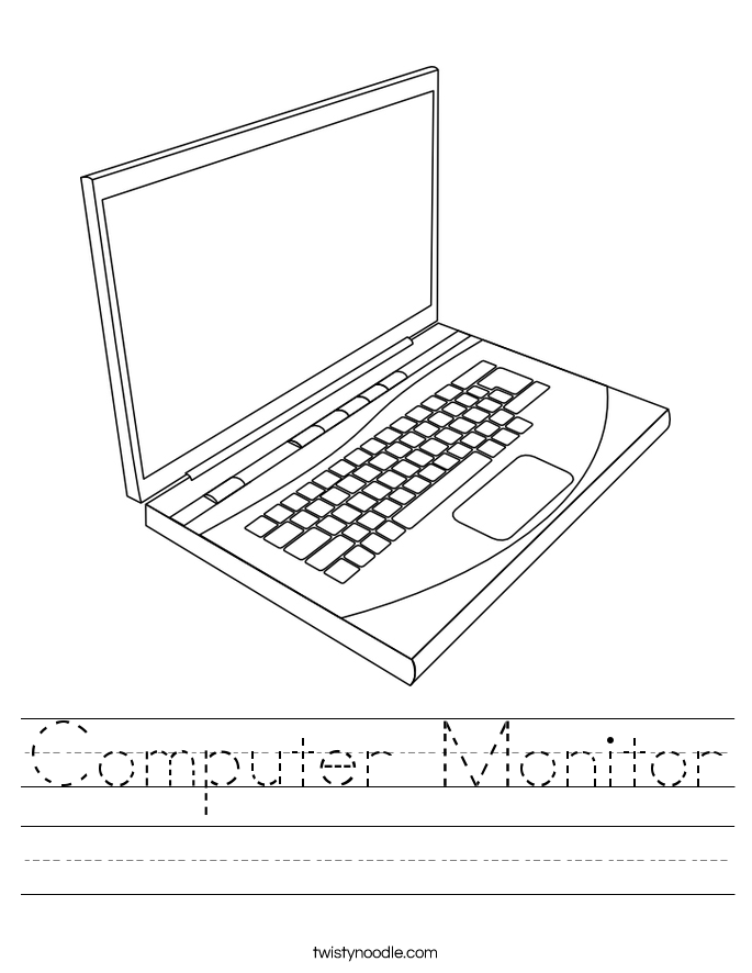 Computer Monitor Worksheet