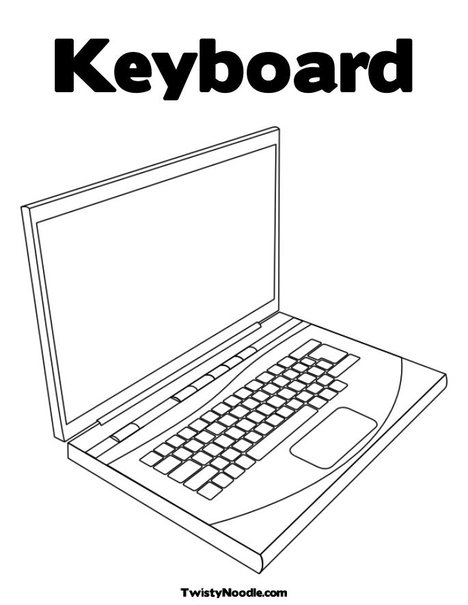 coloring pages keyboard computer | Computer Keyboard Coloring Pages To Print Sketch Coloring Page