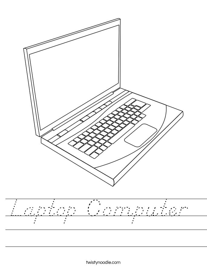 Laptop Computer  Worksheet