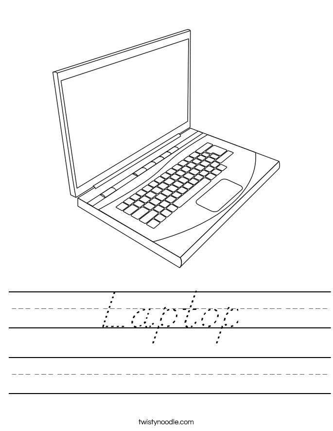 Laptop Worksheet