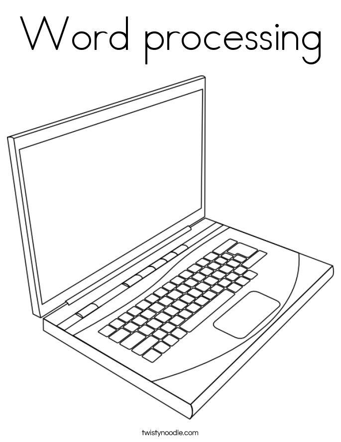 Word processing Coloring Page