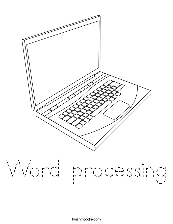 Word processing Worksheet