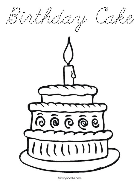 Layered Cake Coloring Page