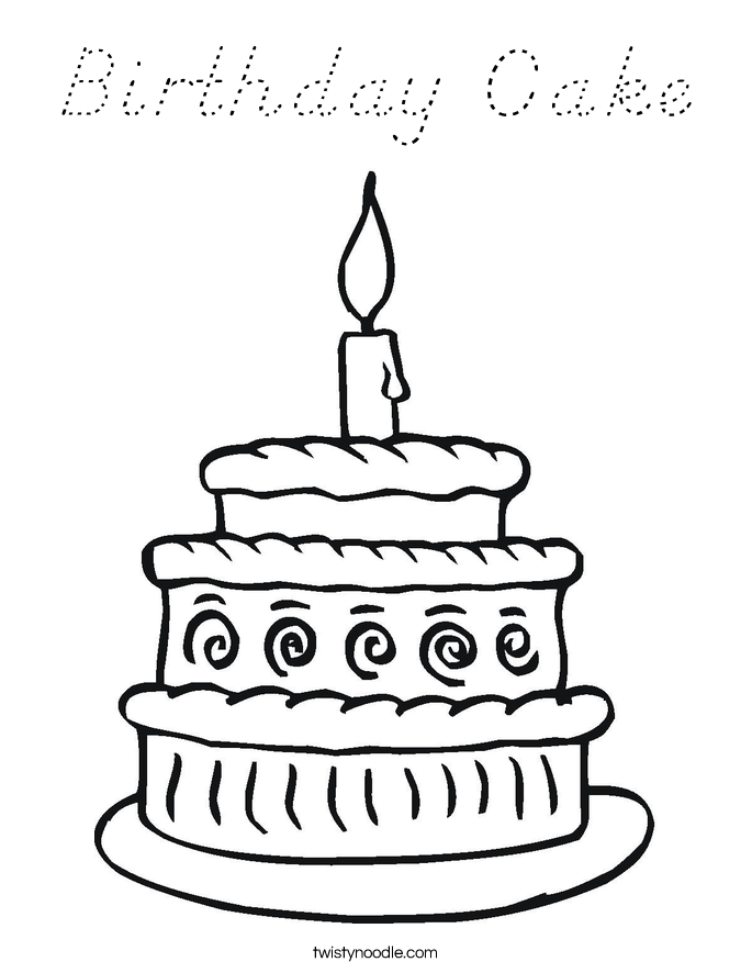 coloring pages 1st birthday - photo#40