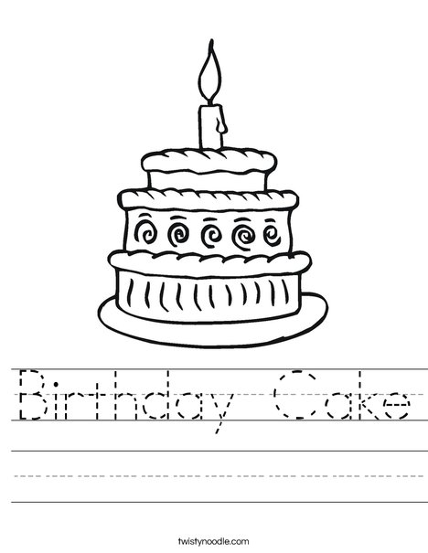 Layered Cake Worksheet