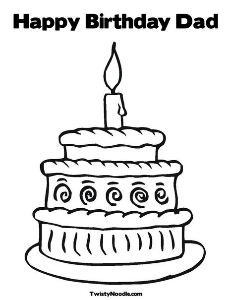 dads birthday coloring pages - photo#21