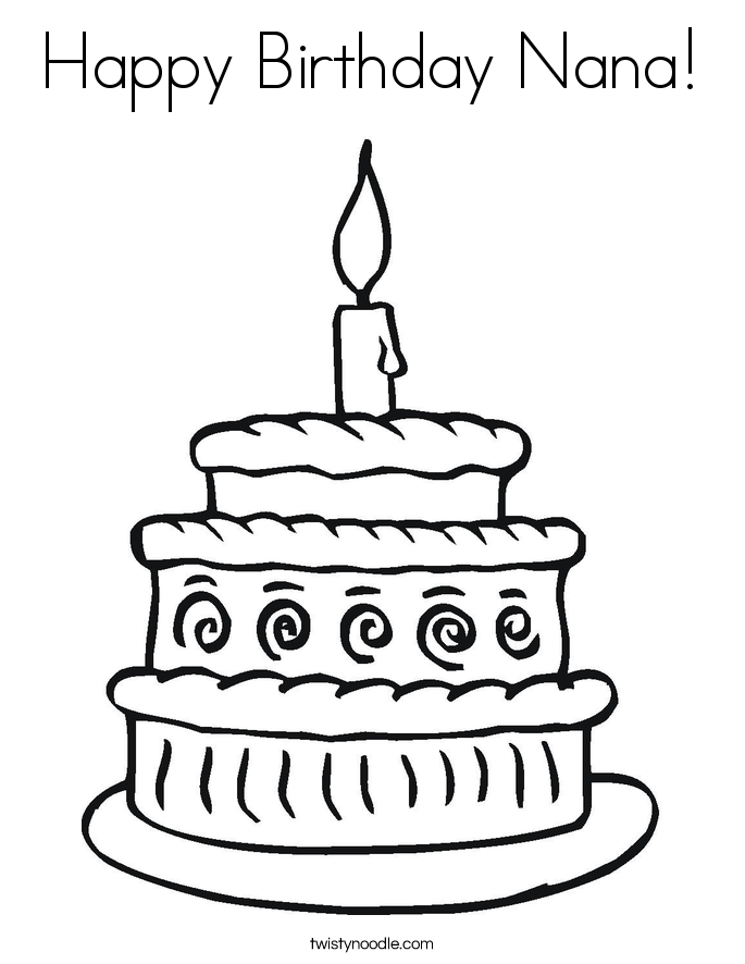 Happy Birthday Nana Coloring Pages Imchimp Me