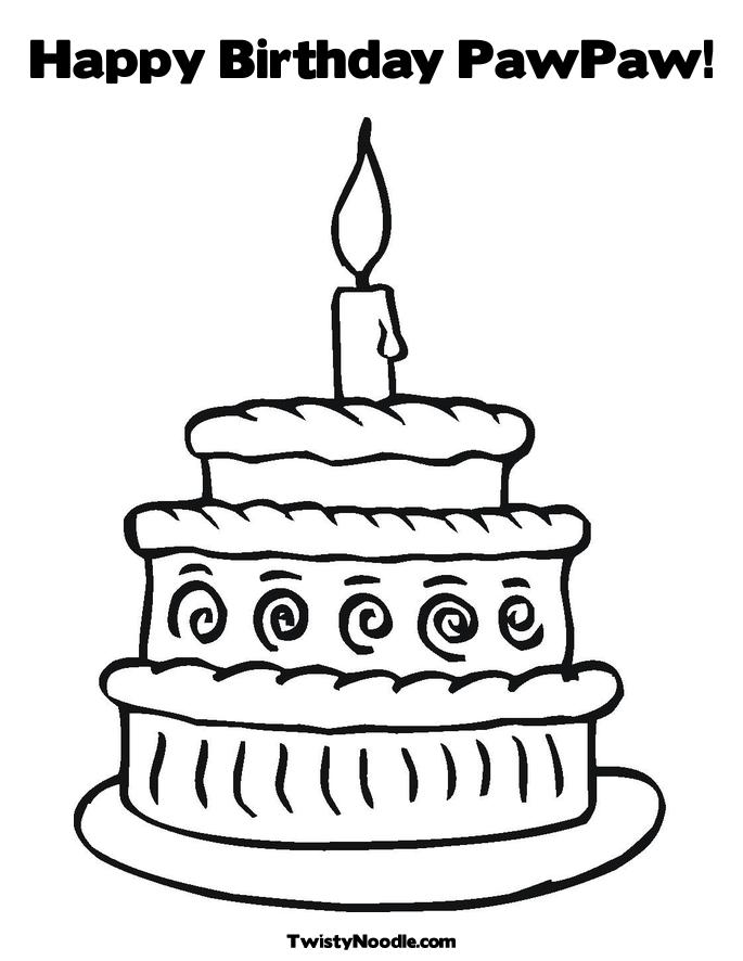 happy birthday auntie coloring pages - photo#22