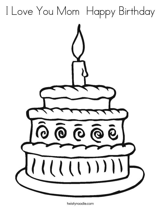 love birthday coloring pages - photo#33