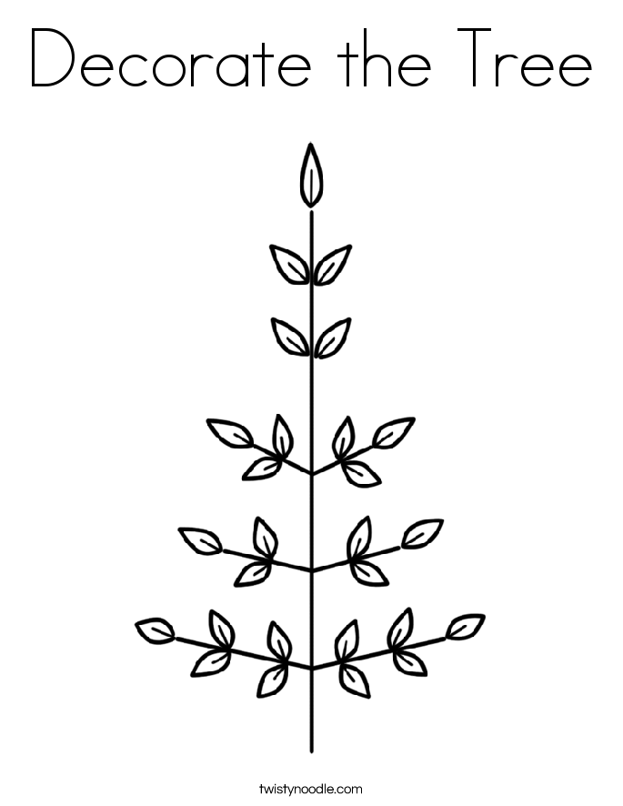 Decorate the Tree Coloring Page