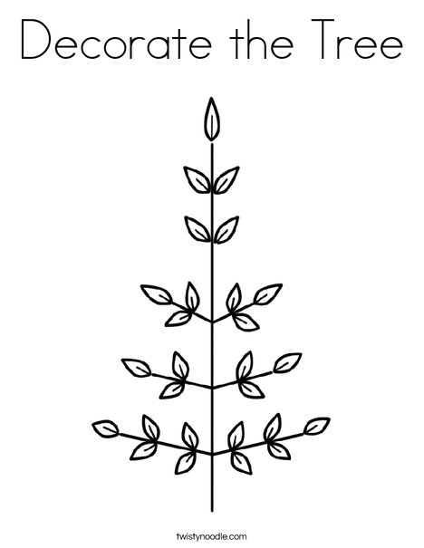 Leaf Christmas Tree Coloring Page