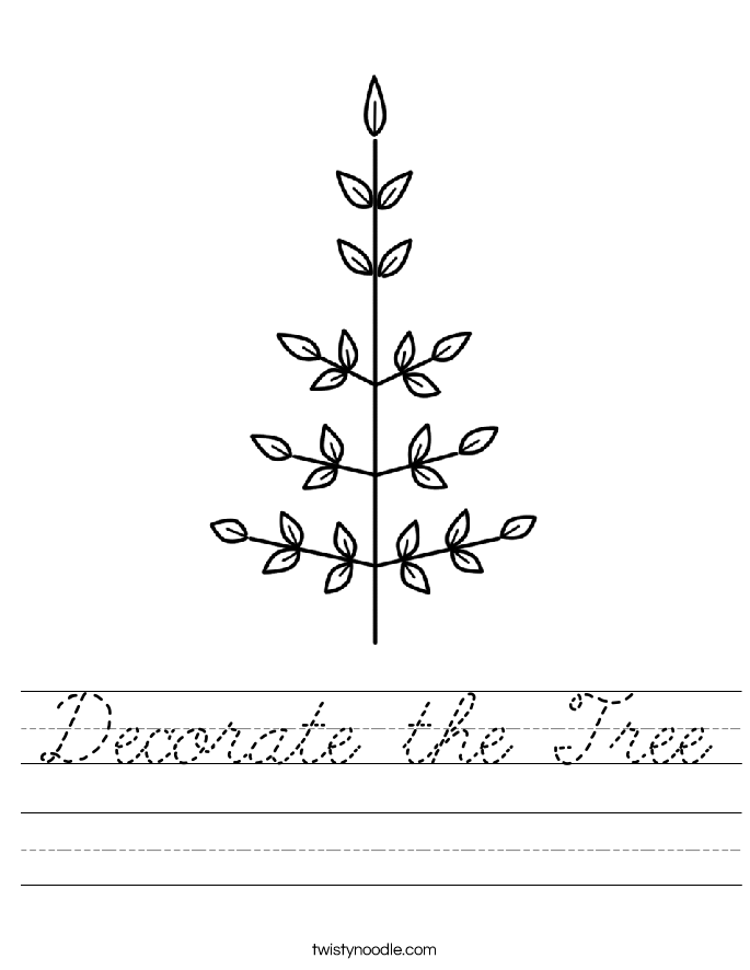 Decorate the Tree Worksheet