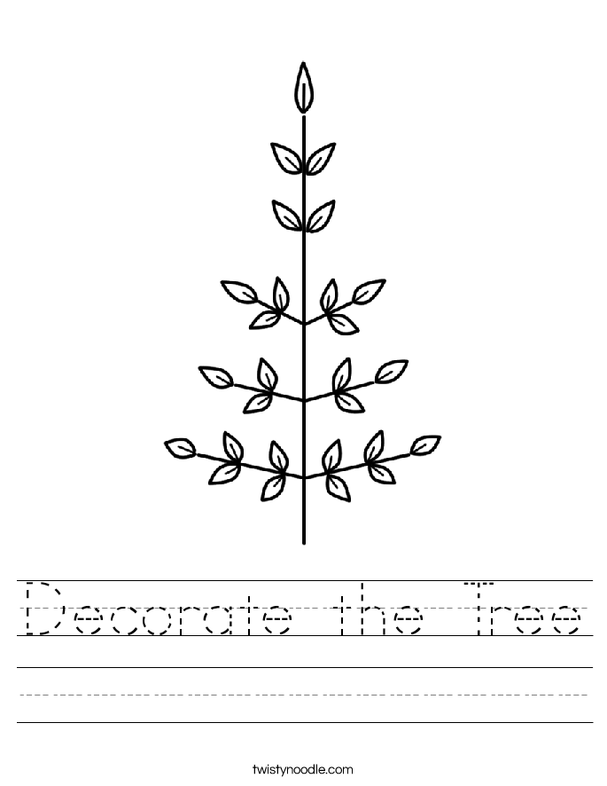 Decorate Christmas Tree Worksheet : Decorate the tree worksheet twisty noodle
