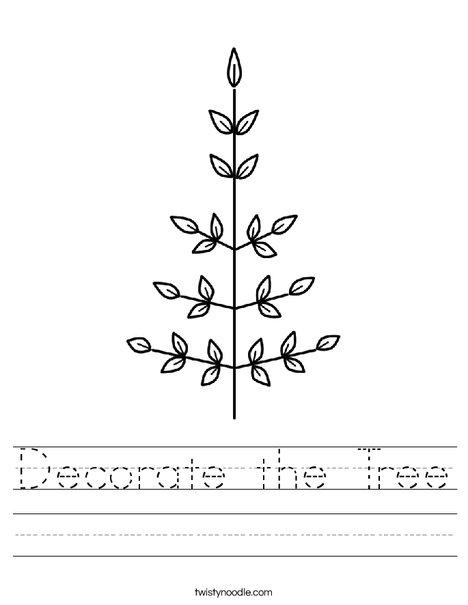 Leaf Christmas Tree Worksheet