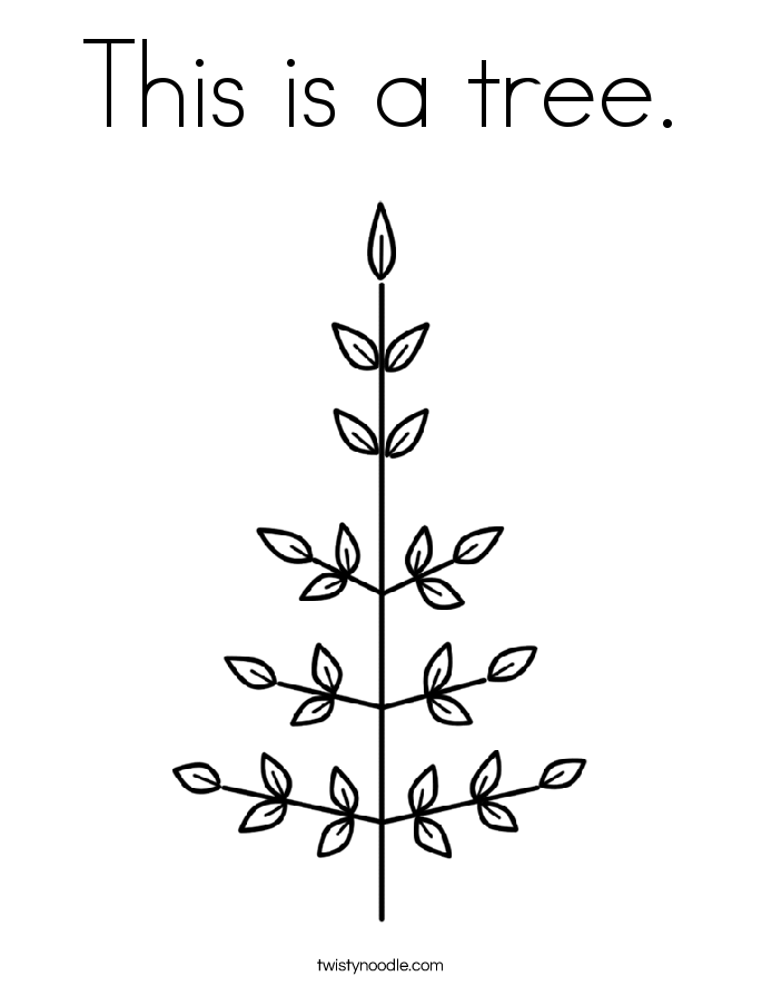 This is a tree. Coloring Page