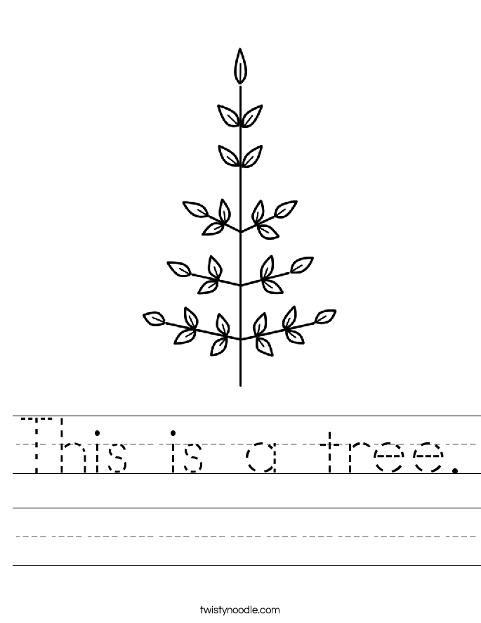 This is a tree. Worksheet