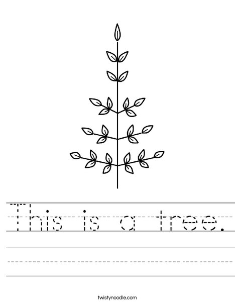 Leaf Christmas Tree Worksheet