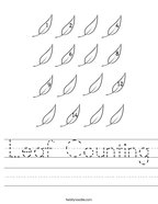 Leaf Counting Handwriting Sheet