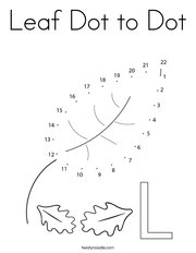 Leaf Dot to Dot Coloring Page