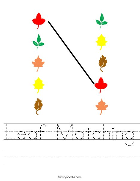 leaf matching worksheet - Matching Worksheet