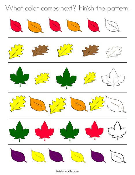 Leaf Patterns Coloring Page
