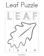 Leaf Puzzle Coloring Page