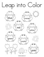 Leap into Color Coloring Page