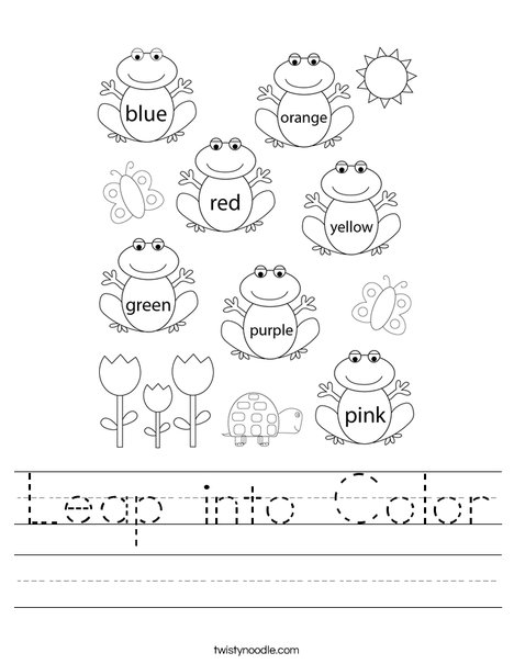 Leap into Color Worksheet