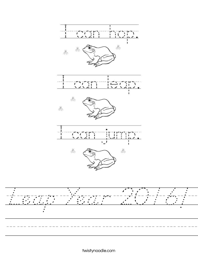 Leap Year 2016! Worksheet