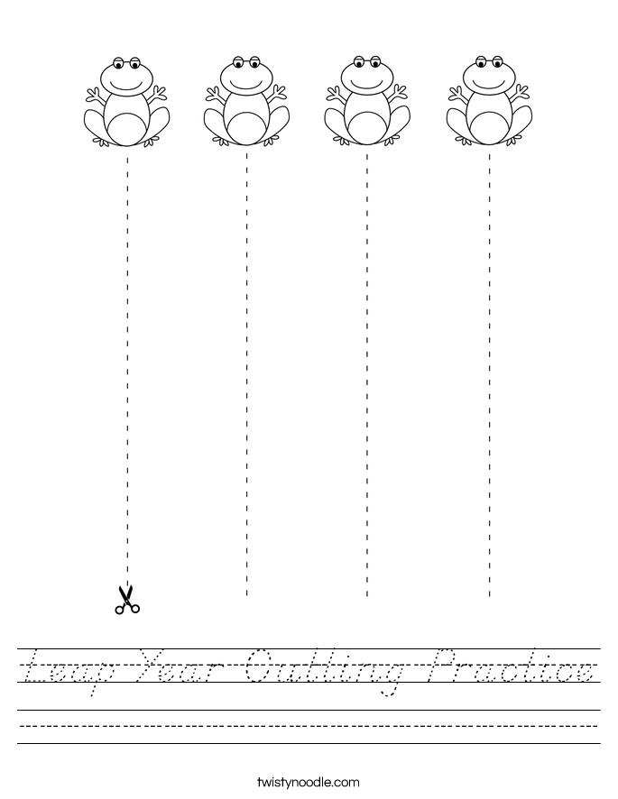 Leap Year Cutting Practice Worksheet