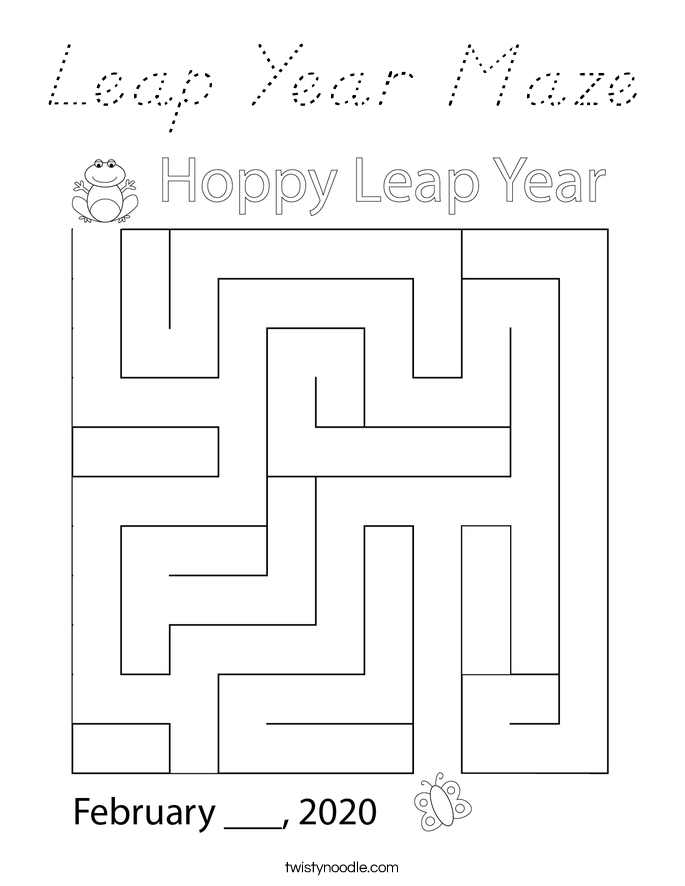 It's just a picture of Eloquent Leap Year Printable