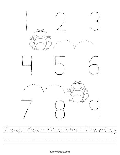 Leap Year Number Tracing Worksheet