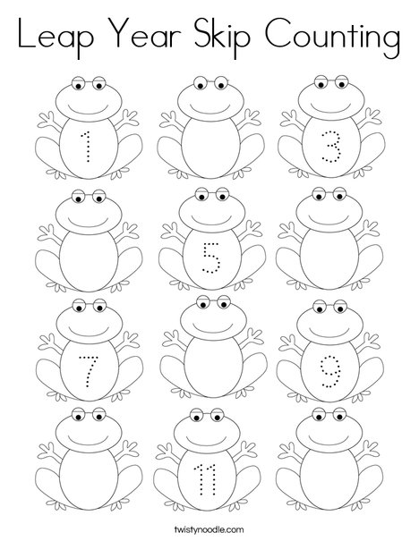 Leap Year Skip Counting Coloring Page