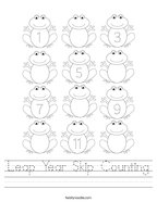 Leap Year Skip Counting Handwriting Sheet