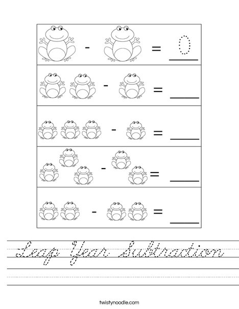 Leap Year Subtraction Worksheet